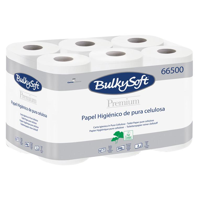 Bulkysoft 2-lags toiletpapir - 100 % nyfiber, ø10 cm