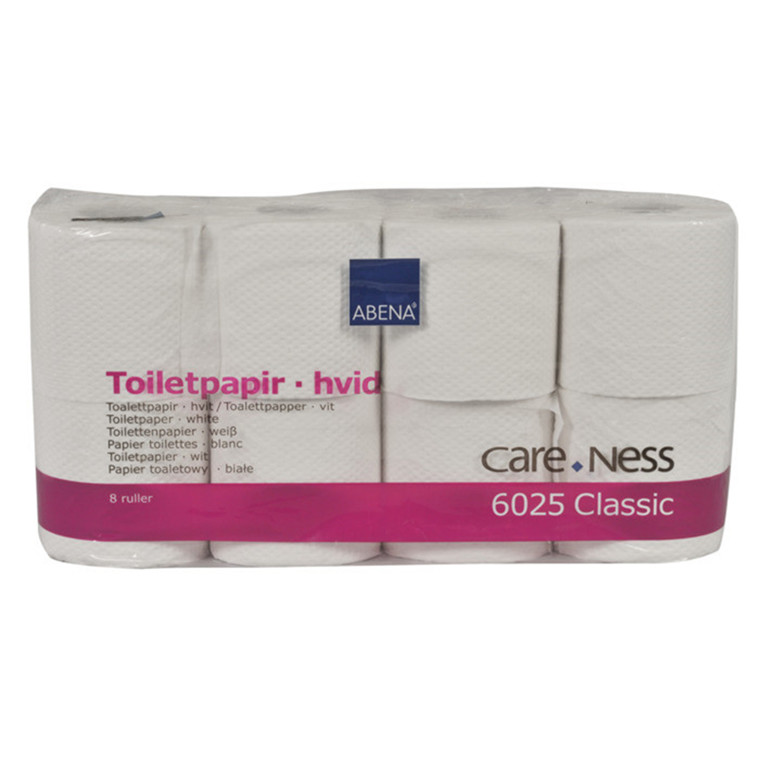 Abena Care-Ness toiletpapir - 2-lags, 100 % genbrugspapir