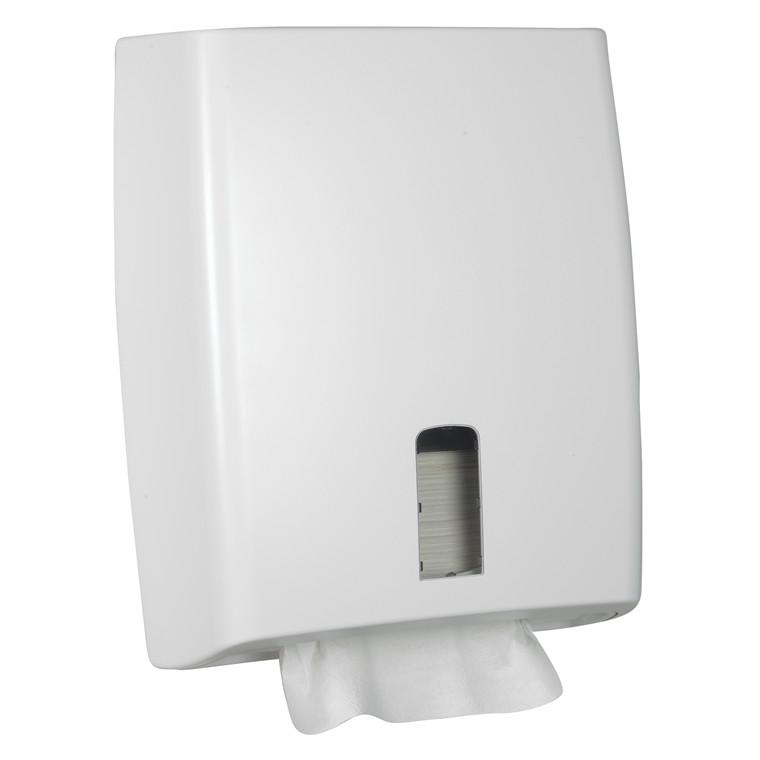 Dispenser til papirhåndklæder i ark - Nonstop, White Classic Midi