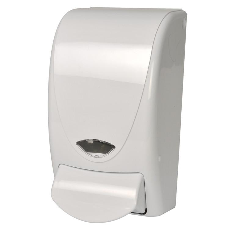 Dispenser t/sæbe, 1000 ml - Refill, hvid plast