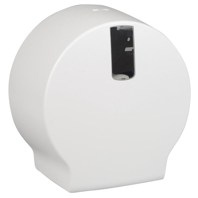 Dispenser t/toiletpapir, jumbo - Plast, hvid