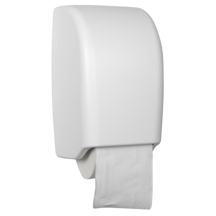 Dispenser til toiletpapir, 2 ruller - White Classic, plast