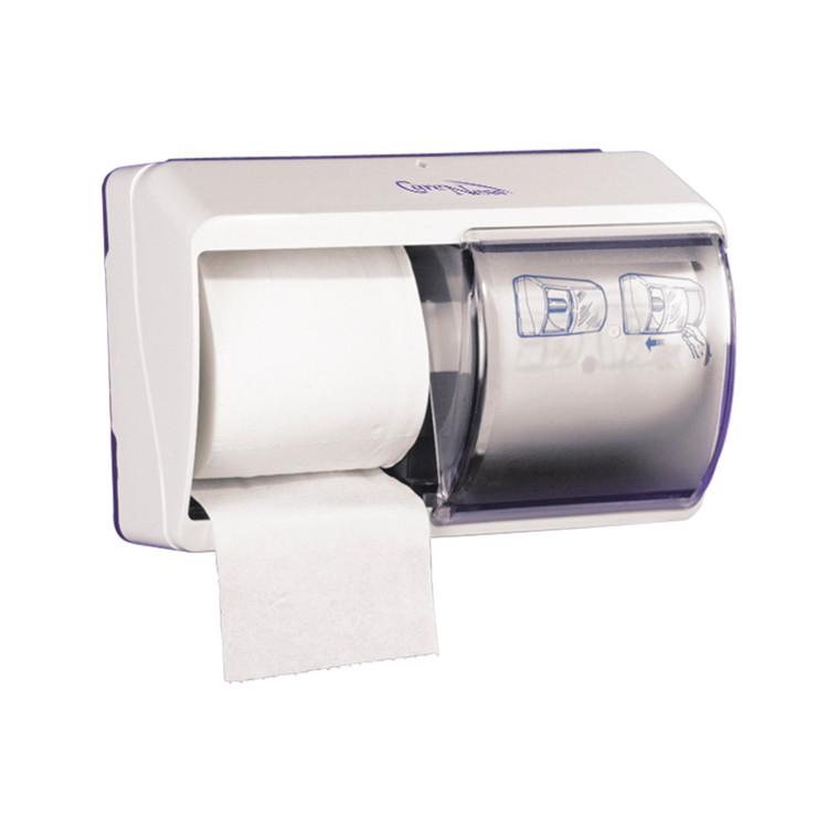 Abena dispenser t/toiletpapir - 2 ruller, Transparent