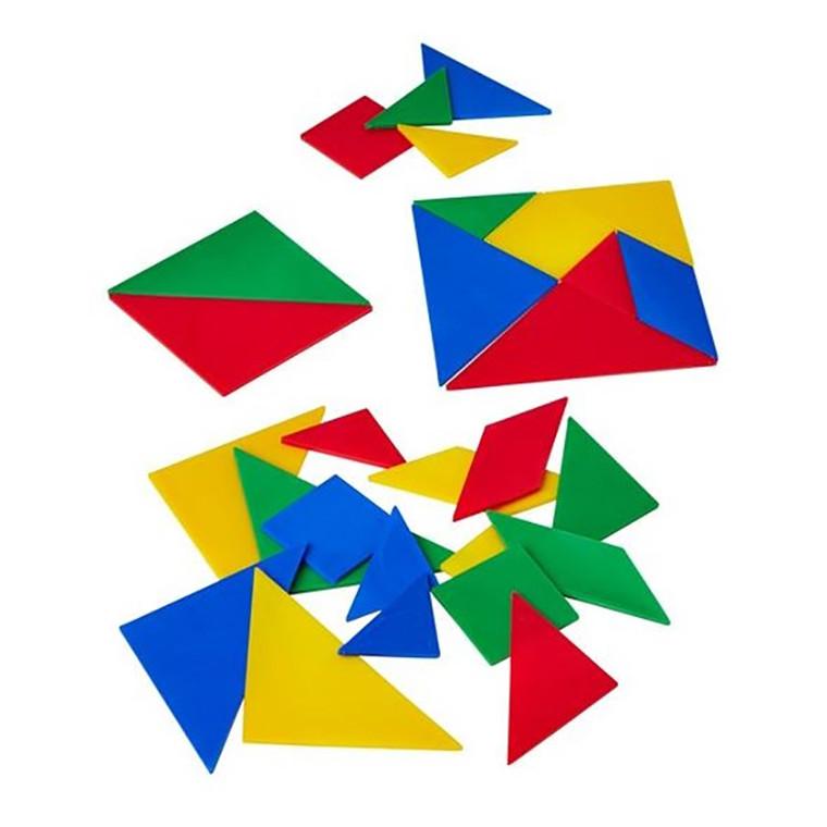Linex Tangram brikker - 4 farver, 28 stk.