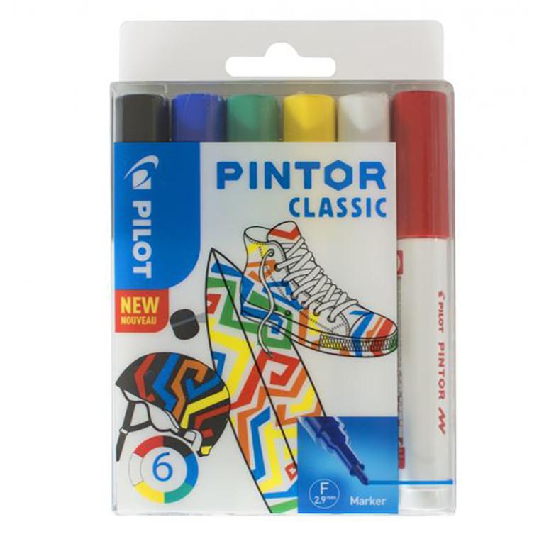 Pilot Pintor Marker - Classic, Fine, 6 ass.