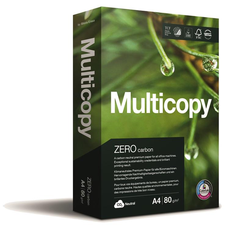 Multicopy A3 kopipapir - Zero 80 g. 500 ark