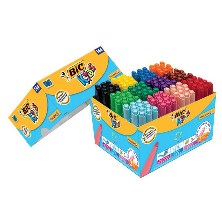 Bic Kids Visa Color XL Klassesæt 144 stk.