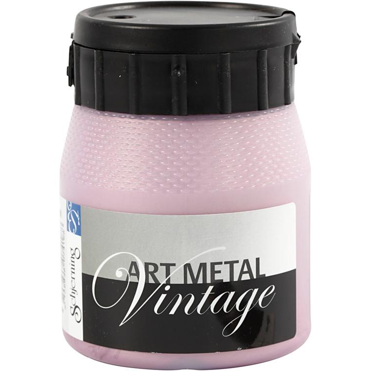 Schjerning Art Metal Vintage - Metalmaling, perlerød, 250 ml
