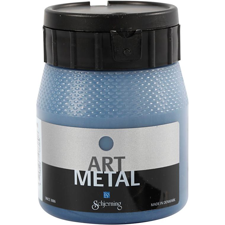 Schjerning Art Metal - Metalmaling, galaxy blå, 250 ml