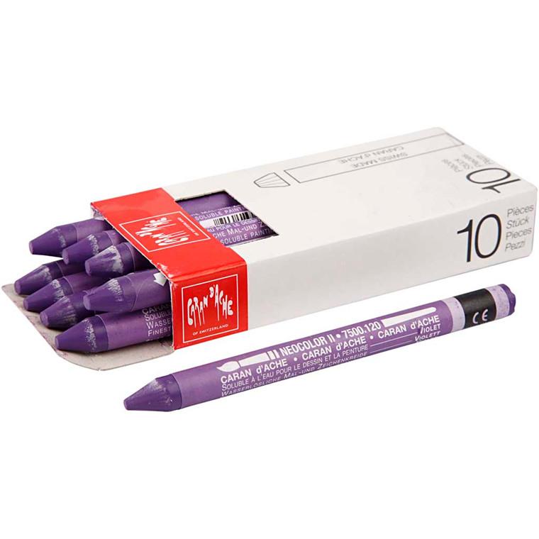 Caran d'Ache Neocolor 2, violet, 10 stk.