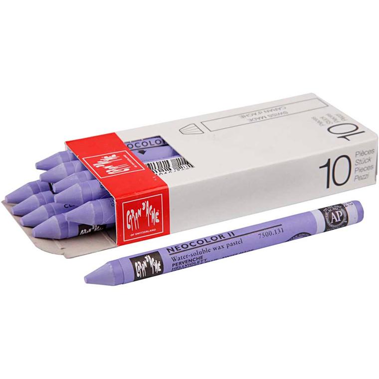 Caran d'Ache Neocolor 2, lys violet, 10 stk.