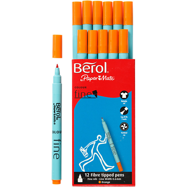 Berol Colourfine orange 12 stk.
