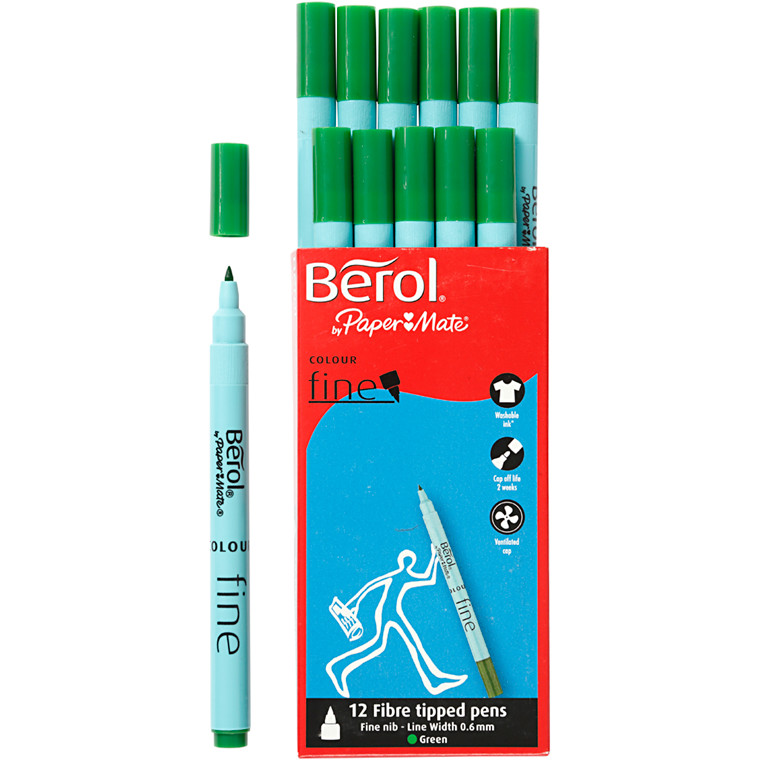 Berol Colourfine grøn 12 stk.