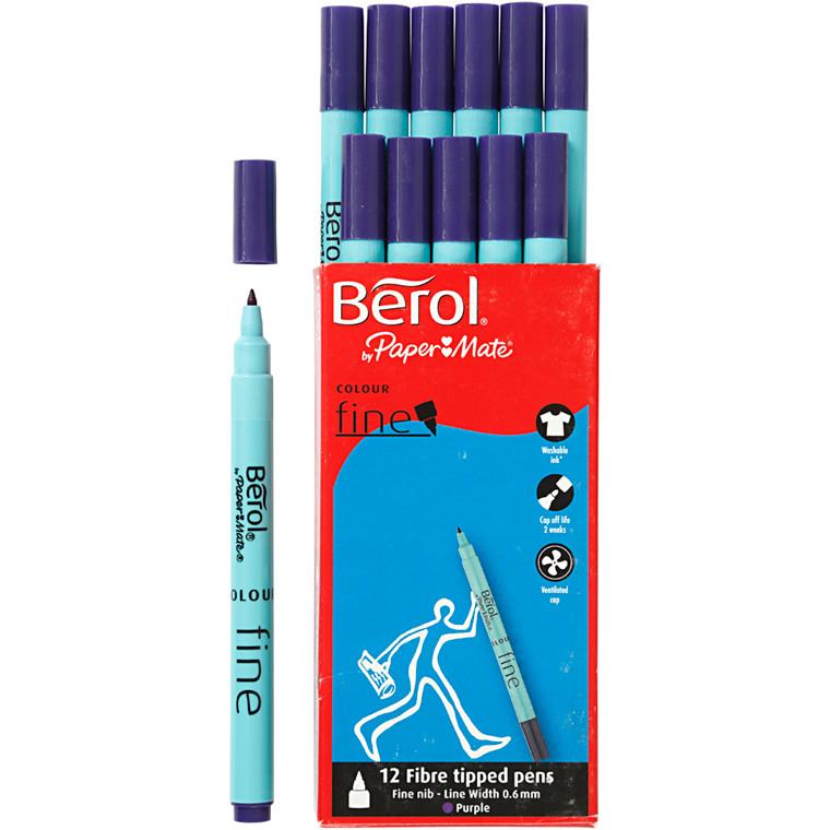 Berol Colourfine lilla 12 stk.