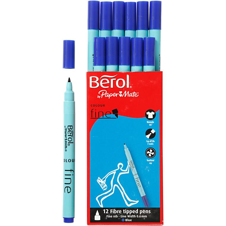 Berol Colourfine blå 12 stk.