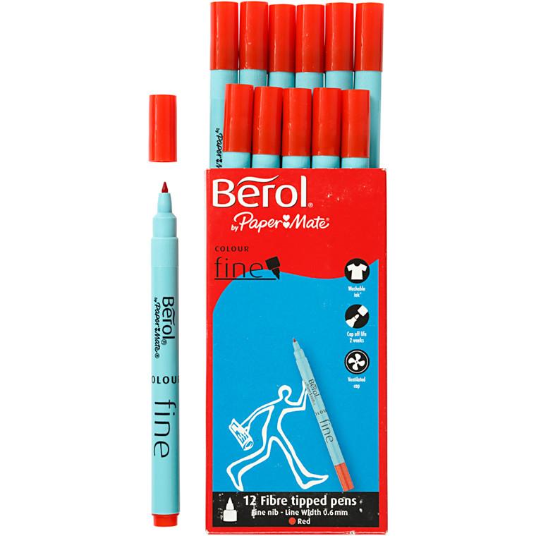 Berol Colourfine rød 12 stk.