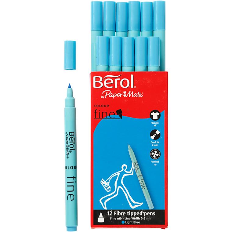 Berol Colourfine lys blå 12 stk.