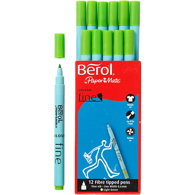 Berol Colourfine lys grøn 12 stk.