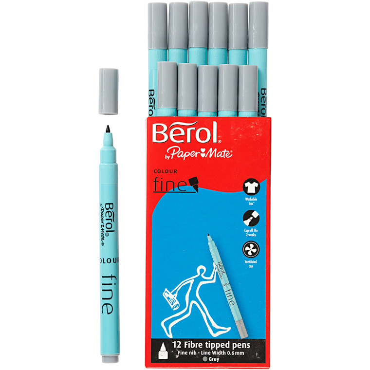 Berol Colourfine grå 12 stk.