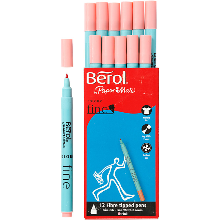 Berol Colourfine pink 12 stk.