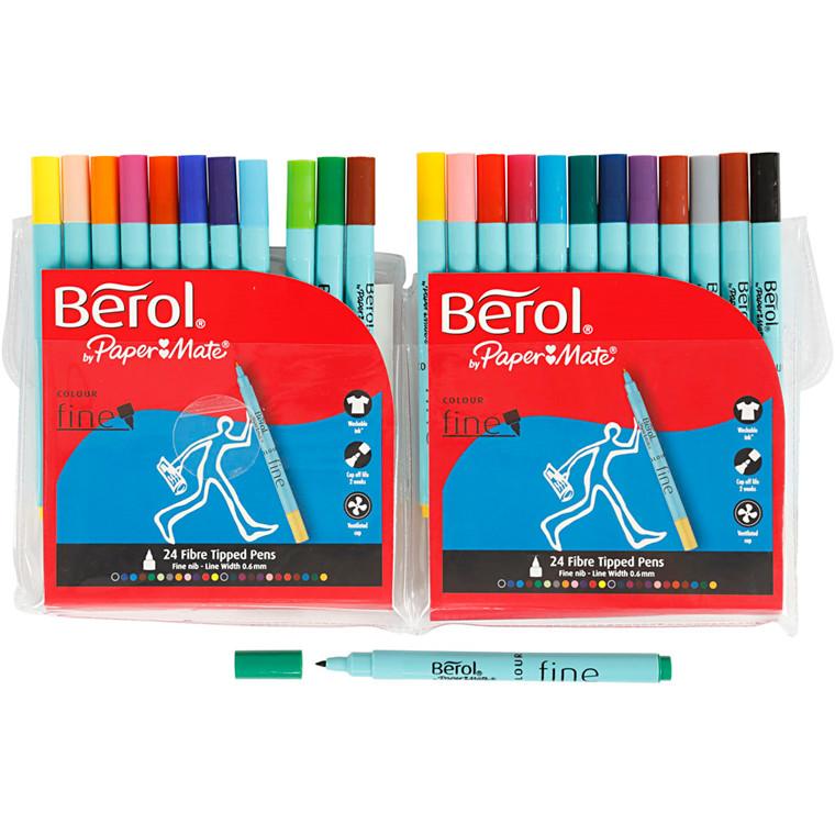 Berol Colourfine, 24 ass. farver