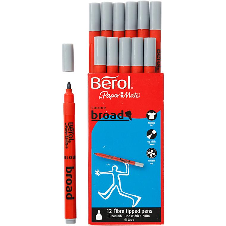 Berol Colourbroad grå 12 stk.