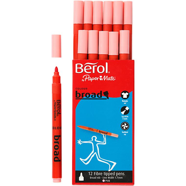 Berol Colourbroad pink 12 stk.