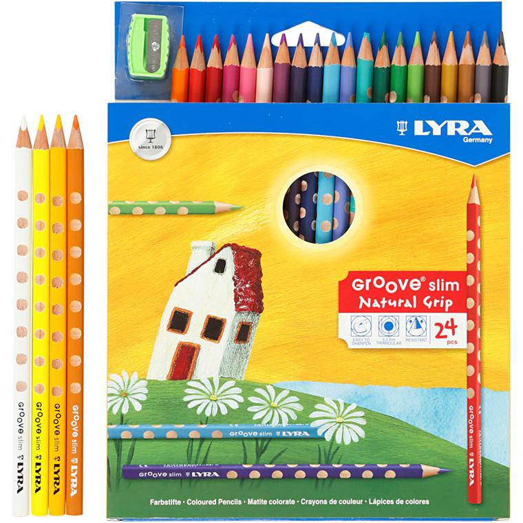 Lyra Groove Slim farveblyant, 24 ass.