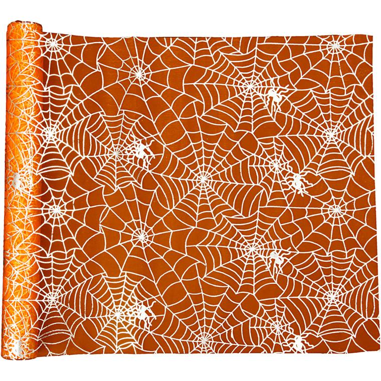 Bordløber, B: 29 cm, L: 3,5 m, orange, halloween, 1 rl.