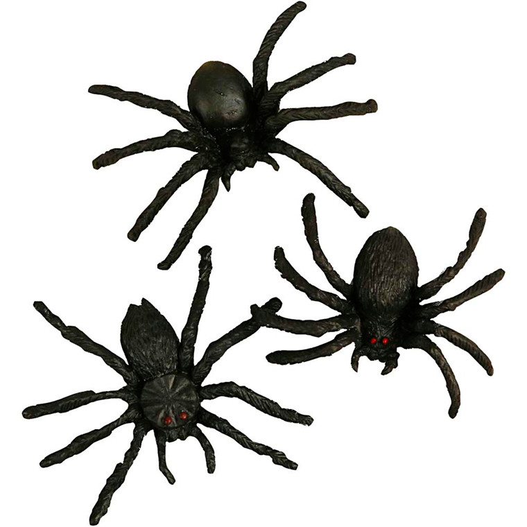 Edderkopper 4 cm - 10 stk.