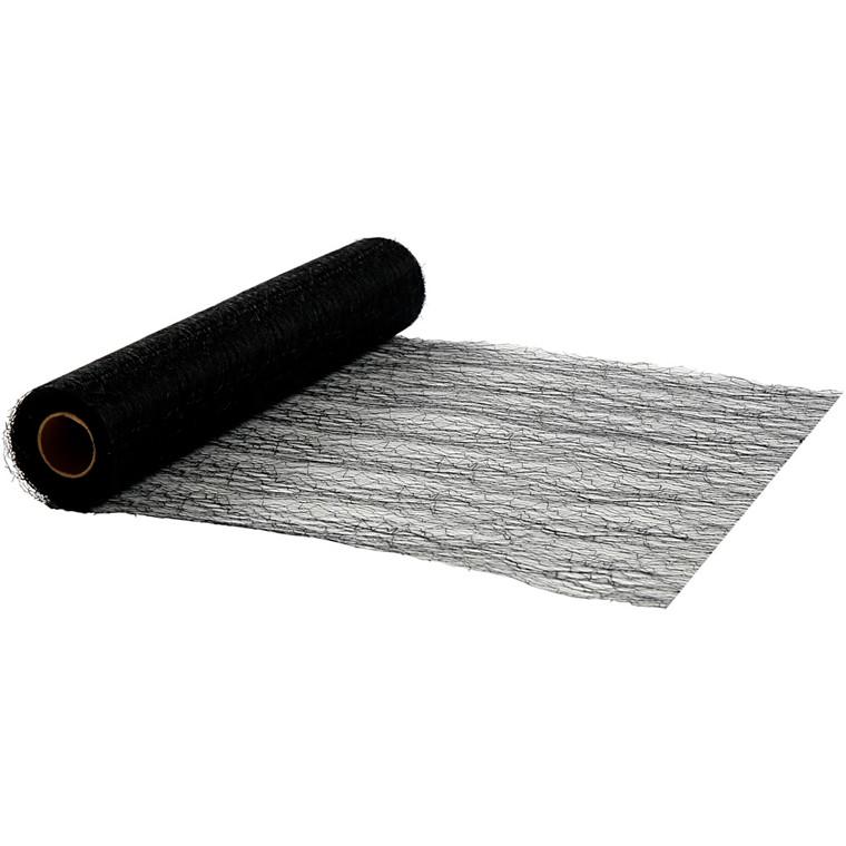 Bordløber, 30 cm, sort, net, 10 m