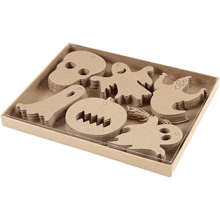 Halloween-ophæng - 3-10 cm, 60 ass.