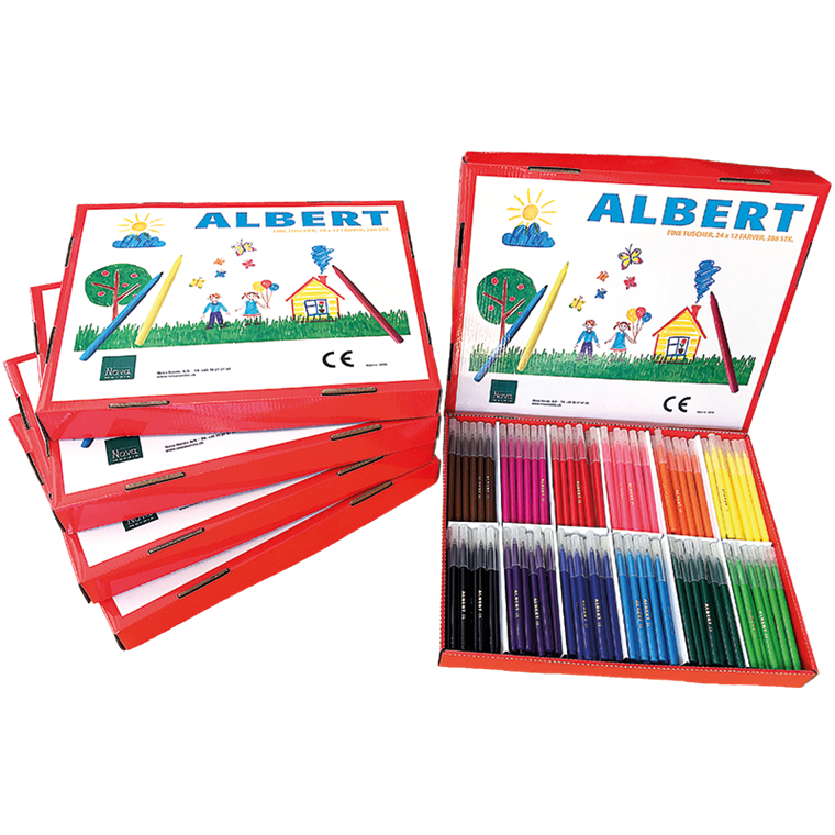 Albert Tusch Fine - 288 stk. i 12 farver