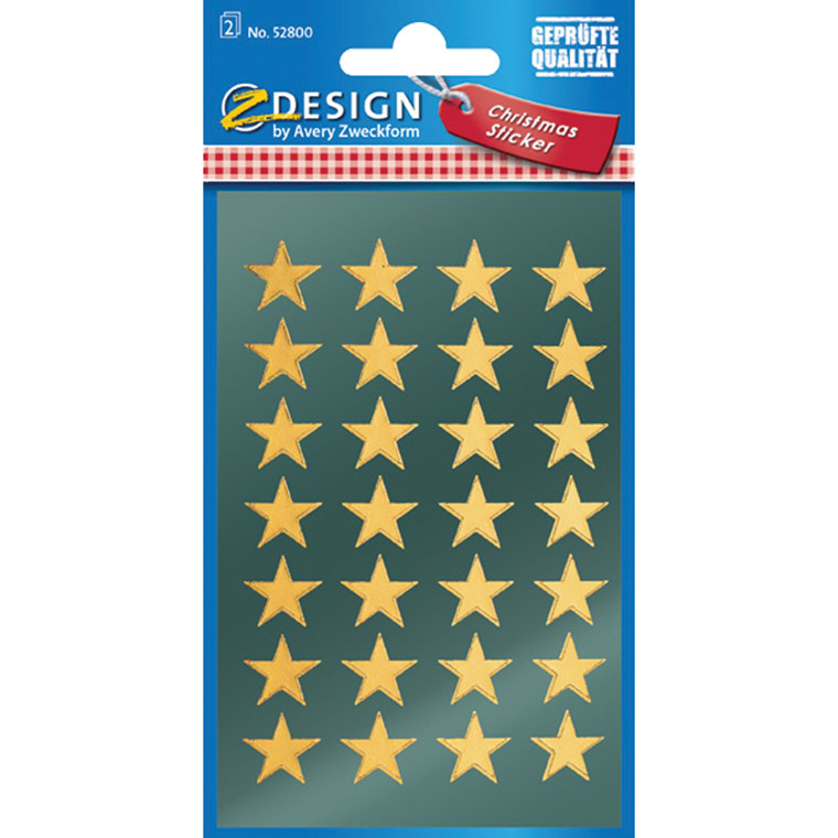 Stickers Stjerne guld 56 stk