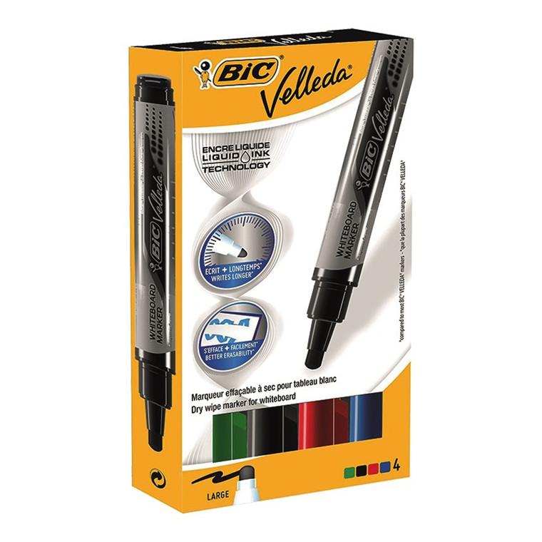 BIC Velleda WB marker - 4 ass. farver 2,3 mm