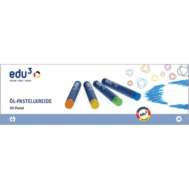 EDU3 OLIEPASTELLER 25 ASS. FV