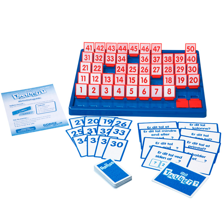 Find tallet - spil, lær børnene at tælle fra 1-50