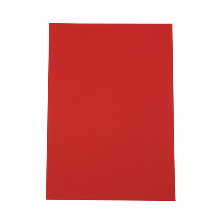 A4 karton 100 ark - 180 gram Rød