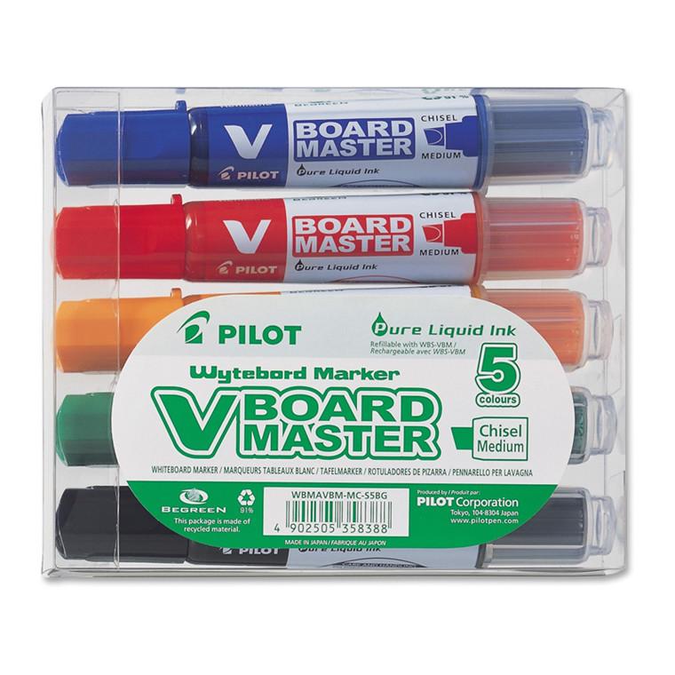 Pilot V Board Master Etui med 5 ass. fv.