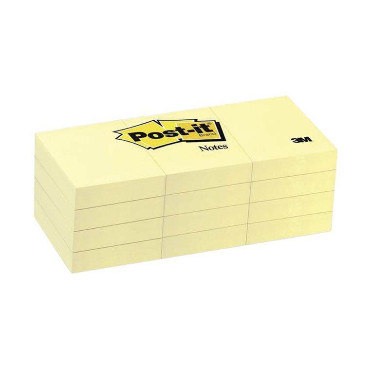 Post-it notes  653 gul 38x51mm, 12 blokke