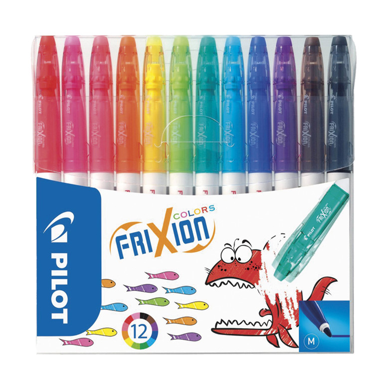 Pilot Frixion color - 12 stk. ass. farver
