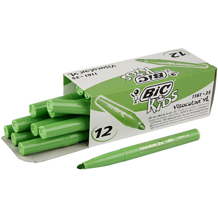 Visa Color tusch 12 stk. lys grøn