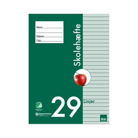 Nova Skolehæfte - A4 hæfter med 29 linjer, 25 stk.*