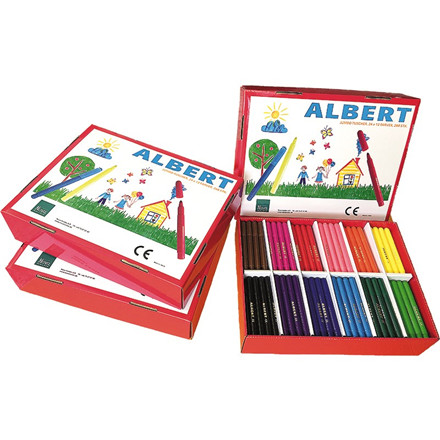 Albert Tusch Jumbo - 288 stk i 12 farver