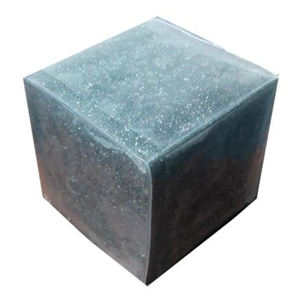 Lommeterning med plastlomme - 6 x 6 cm, tom