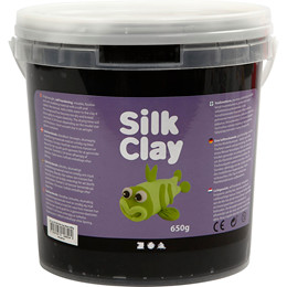 Silk Clay, sort, 650 g