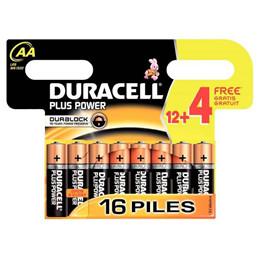 Duracell Batterier  AA 12+4 stk.