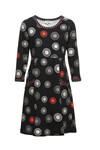 Charles Design Dress Signe. Circle Black/Red