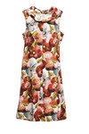 Charles Design Dress Thea, Red flower