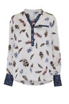 Costamani Shirt ASTRID, Feather/leo off white